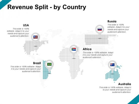 Revenue Split By Country Location Ppt PowerPoint Presentation Icon Deck