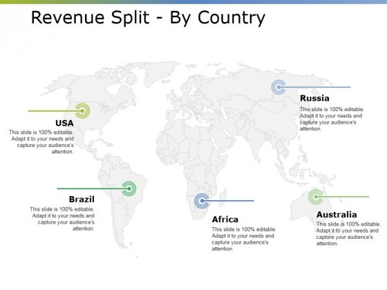 Revenue Split By Country Ppt PowerPoint Presentation Inspiration Designs Download