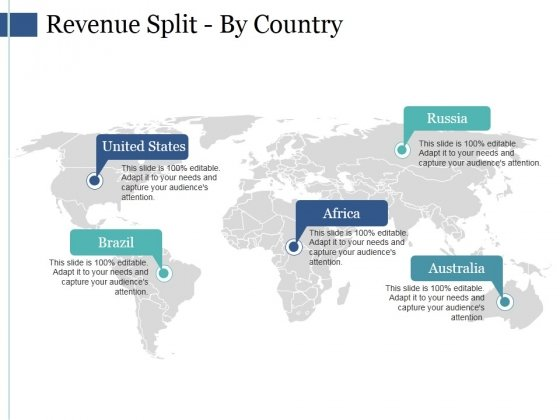 Revenue Split By Country Ppt PowerPoint Presentation Styles Format