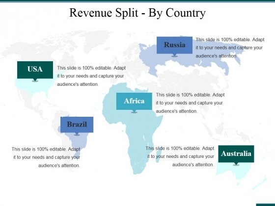 Revenue Split By Country Ppt PowerPoint Presentation Styles Microsoft