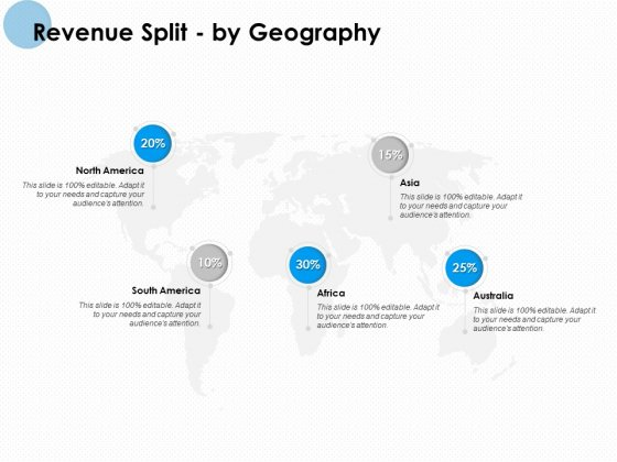 Revenue Split By Geography Ppt PowerPoint Presentation Outline Show