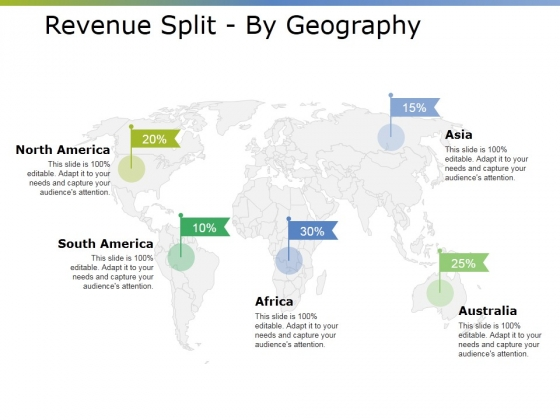 Revenue Split By Geography Ppt PowerPoint Presentation Pictures Show