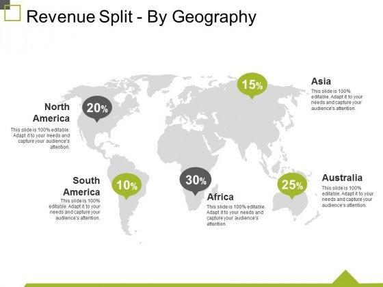 Revenue Split By Geography Ppt PowerPoint Presentation Professional Themes