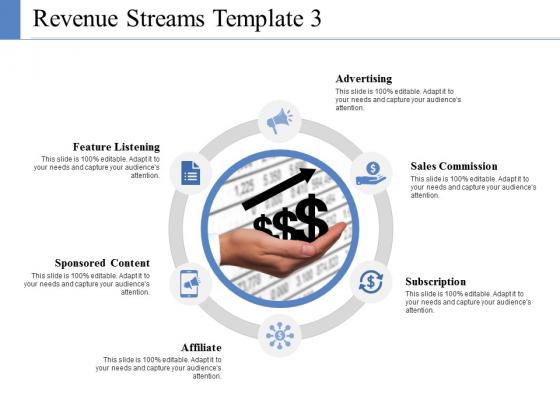 Revenue Streams Template 3 Ppt PowerPoint Presentation Ideas Slide Portrait
