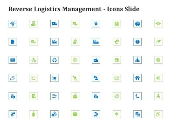 Reverse Logistics Management Icons Slide Ppt Summary Graphics Example PDF