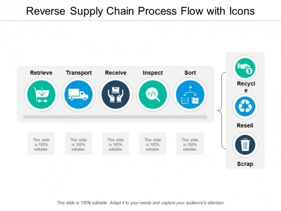 Reverse Supply Chain Process Flow With Icons Ppt Powerpoint Presentation File Outfit