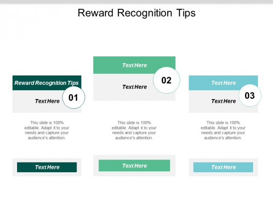 Reward Recognition Tips Ppt PowerPoint Presentation Infographic Template Smartart Cpb