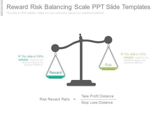 Reward Risk Balancing Scale Ppt Slide Templates