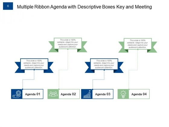Ribbon_Agenda_Slides_For_Meeting_Growth_Target_Ppt_PowerPoint_Presentation_Complete_Deck_Slide_6