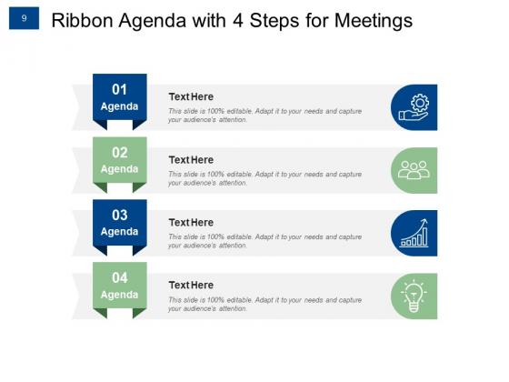 Ribbon_Agenda_Slides_For_Meeting_Growth_Target_Ppt_PowerPoint_Presentation_Complete_Deck_Slide_9