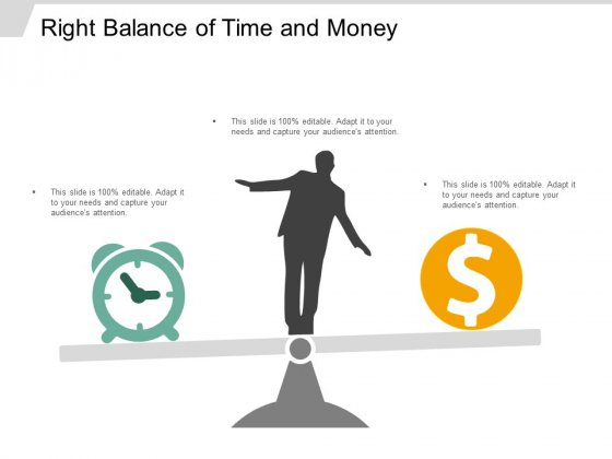 Right Balance Of Time And Money Ppt Powerpoint Presentation Ideas Portrait