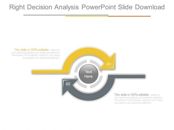 Right Decision Analysis Powerpoint Slide Download