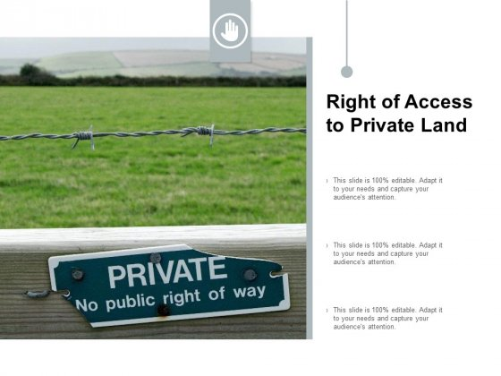 Right Of Access To Private Land Ppt PowerPoint Presentation Pictures Ideas