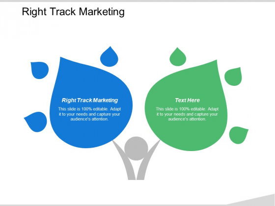 Right Track Marketing Ppt PowerPoint Presentation Icon Elements Cpb