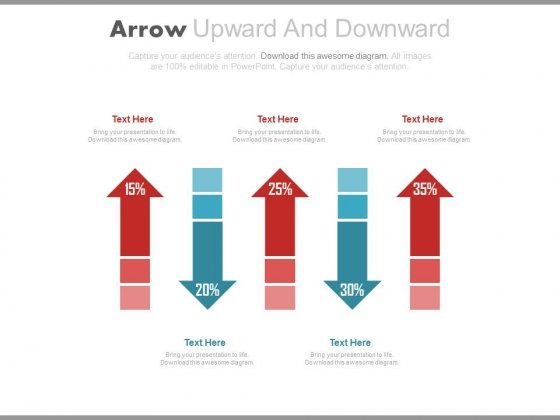 Rise And Fall Arrows For Profit Values Powerpoint Slides