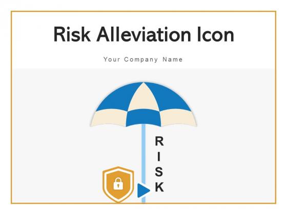 Risk Alleviation Icon Gear Circular Ppt PowerPoint Presentation Complete Deck With Slides