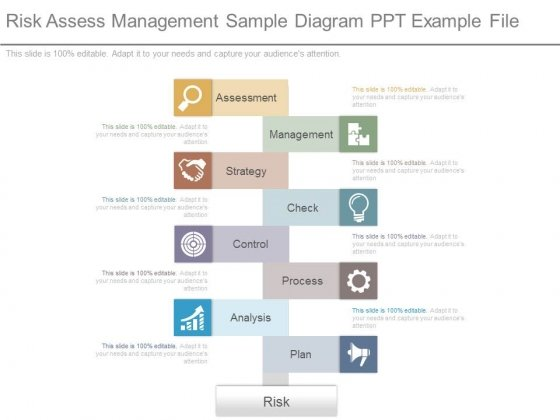 Risk Assess Management Sample Diagram Ppt Example File