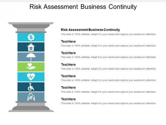 Risk Assessment Business Continuity Ppt Powerpoint Presentation Model Layouts Cpb