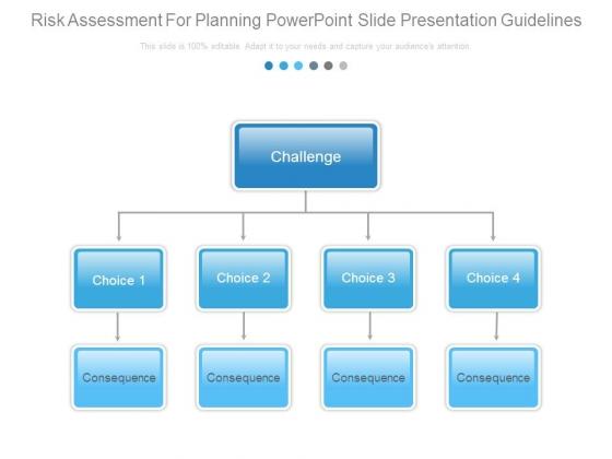Risk Assessment For Planning Powerpoint Slide Presentation Guidelines