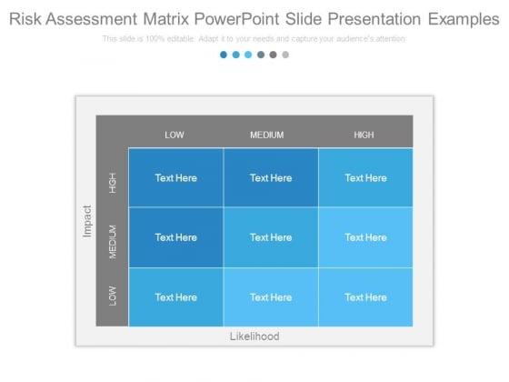 Risk Assessment Matrix Powerpoint Slide Presentation Examples