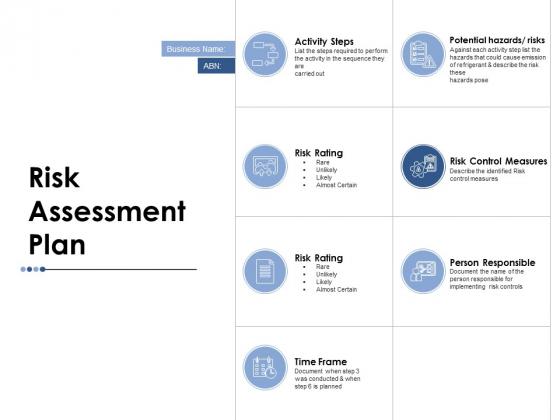 Risk Assessment Plan Ppt PowerPoint Presentation Diagram Templates