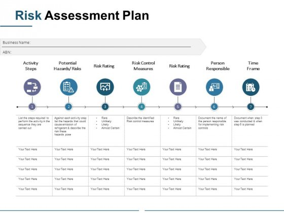 Risk Assessment Plan Ppt PowerPoint Presentation Infographics Designs Download