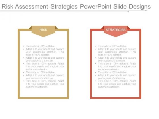 Risk Assessment Strategies Powerpoint Slide Designs