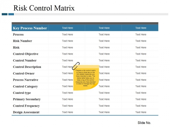 Risk Control Matrix Ppt PowerPoint Presentation Gallery Background Images