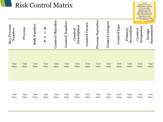Risk Control Matrix Ppt PowerPoint Presentation Model Samples