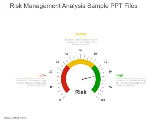 Risk Management Analysis Sample Ppt Files