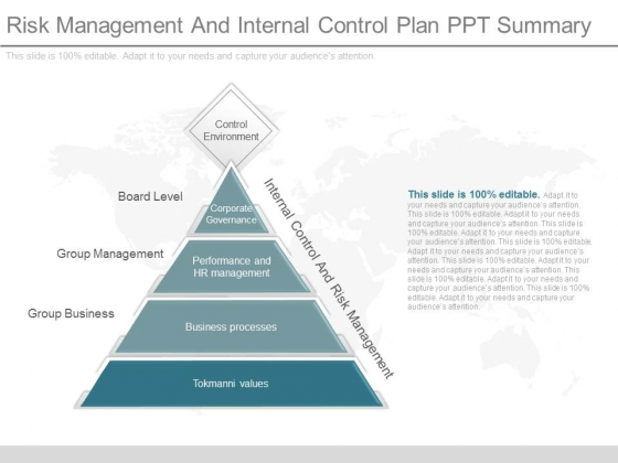 Risk Management And Internal Control Plan Ppt Summary