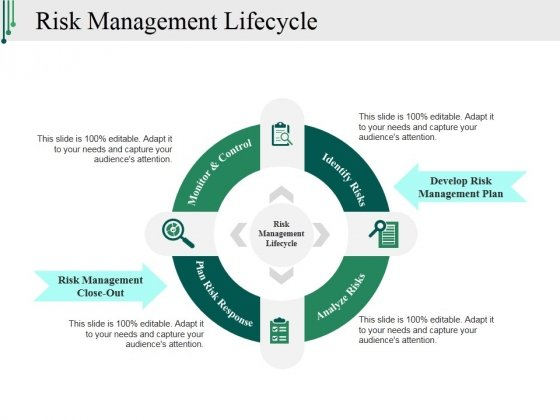 Risk Management Lifecycle Ppt PowerPoint Presentation Designs Download