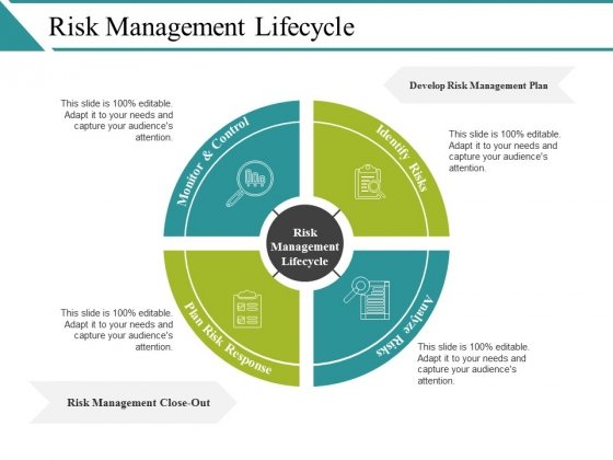 Risk Management Lifecycle Ppt PowerPoint Presentation Summary Mockup