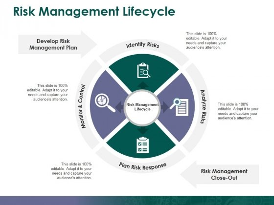 Risk Management Lifecycle Ppt PowerPoint Presentation Summary Slide Download