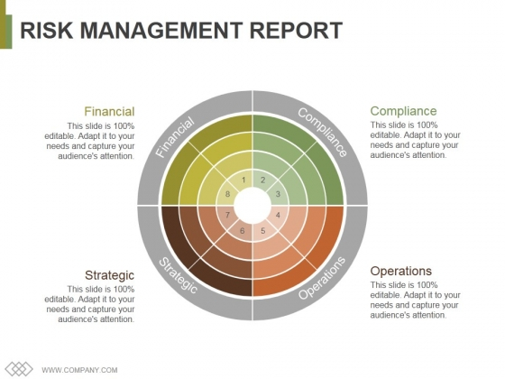 Risk Management Report Template 1 Ppt PowerPoint Presentation Gallery Themes