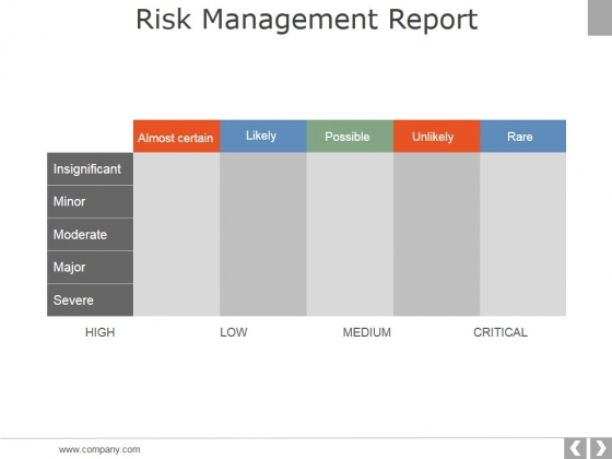 Risk Management Report Template 2 Ppt PowerPoint Presentation Infographics Brochure