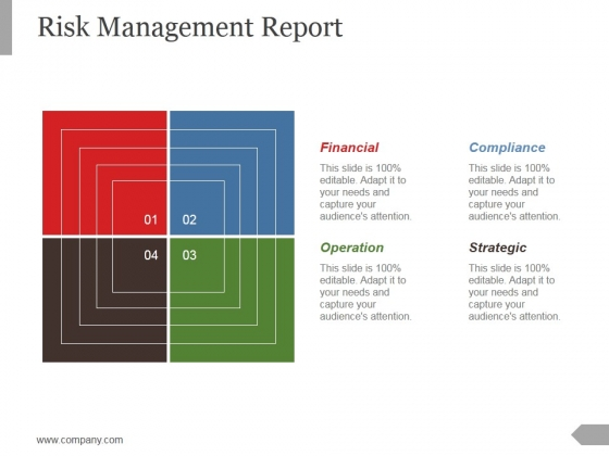 Risk Management Report Template 2 Ppt PowerPoint Presentation Slides