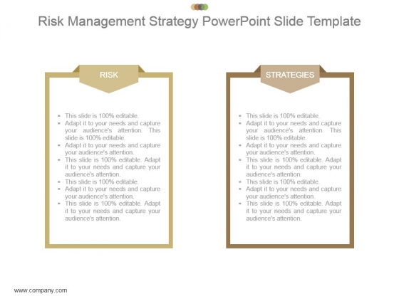 Risk Management Strategy Powerpoint Slide Template