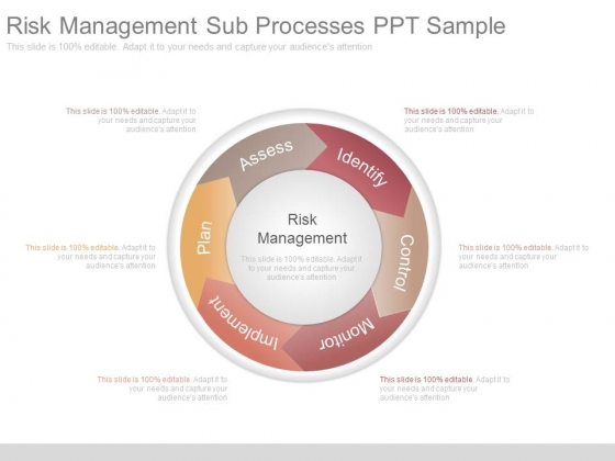 Risk Management Sub Processes Ppt Sample