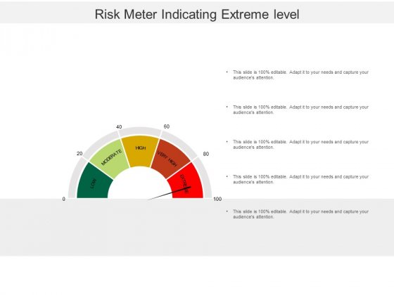Risk Meter Indicating Extreme Level Ppt PowerPoint Presentation Icon Template