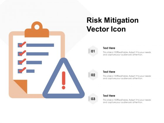 Risk Mitigation Vector Icon Ppt PowerPoint Presentation Clipart