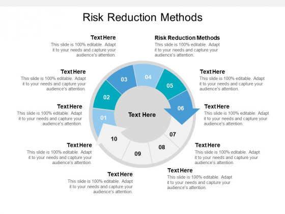 Risk Reduction Methods Ppt PowerPoint Presentation Outline Influencers Cpb