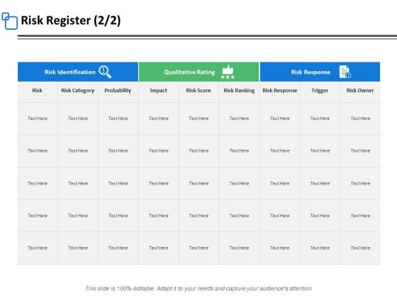 Risk Register Strategy Ppt PowerPoint Presentation Slides Layout Ideas