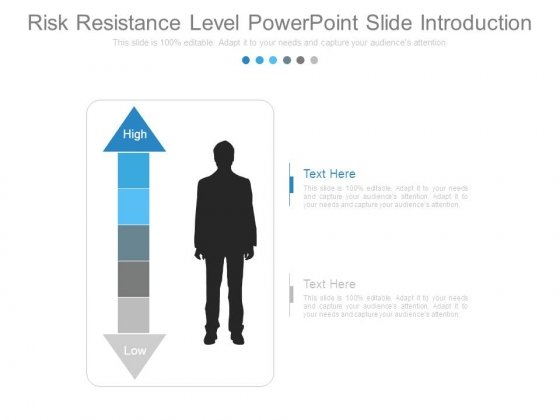 Risk Resistance Level Powerpoint Slide Introduction