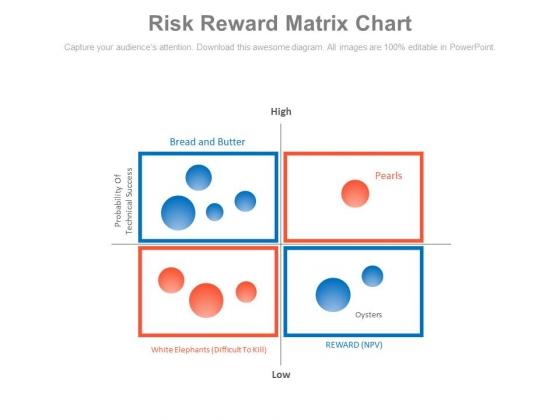 Risk Reward Matrix Chart Ppt Slides