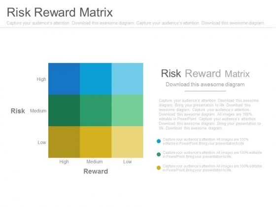 Risk Reward Matrix Ppt Slides