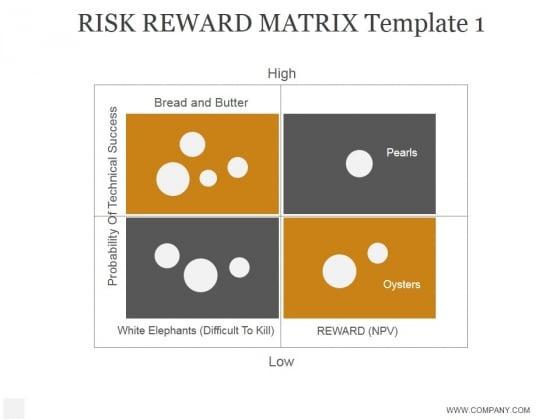 Risk Reward Matrix Template 1 Ppt PowerPoint Presentation Rules