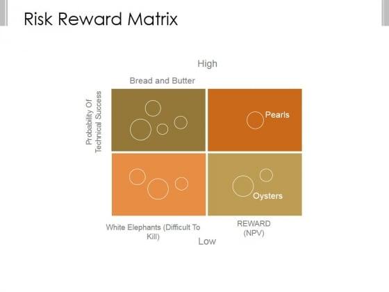 Risk Reward Matrix Template 1 Ppt PowerPoint Presentation Slide Download