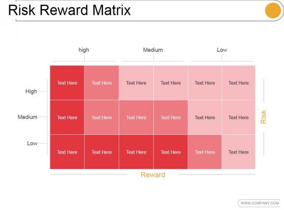 Risk Reward Matrix Template 2 Ppt PowerPoint Presentation Guidelines