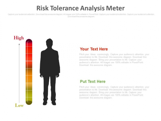 Risk Tolerance Analysis Meter Ppt Slides